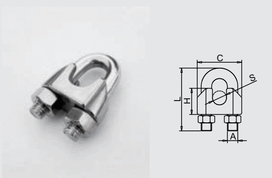 Galvanzied Steel U-Bolt wire rope clips size specification