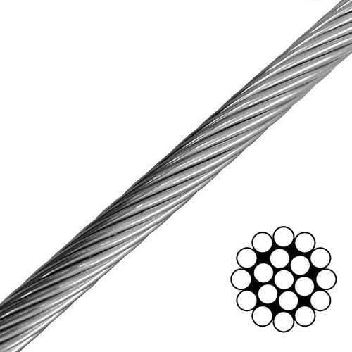 1x19 Steel Wire Rope for Zipline design and construction