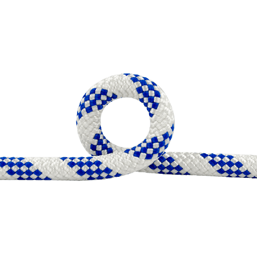 8MM-ACCESSORY-CORD-WHITE-AND-BLUE-for-climbing-zipline-rope-courses