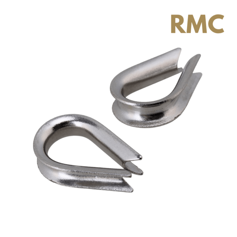 Heavy Duty Stainless steel wire rope thimble for rope courses construction