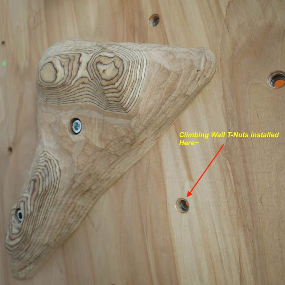 Climbing Plywood hole inserts, T-Nuts